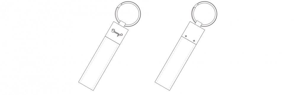 Kožená klíčenka na klíče | wireframe
